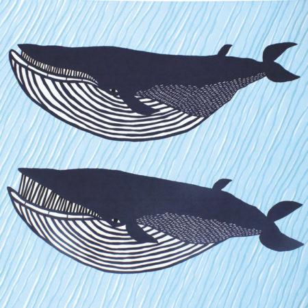 104cm Furoshiki Kata Kata Musubi whale 3