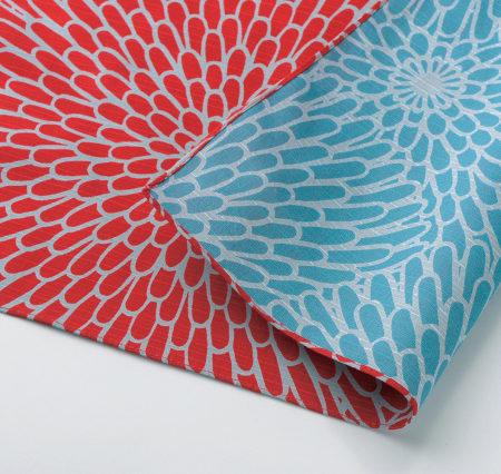 48cm Furoshiki Isa monyo Reversible Red Blue