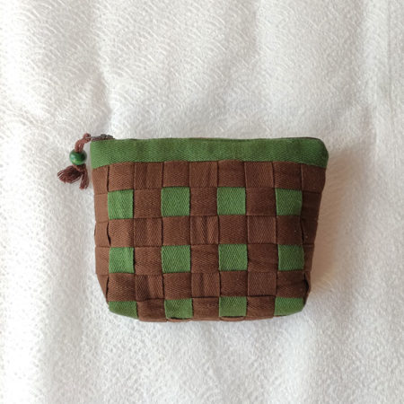 Green-Brown-Checkered-pouch