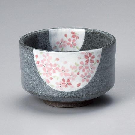 Japanese Authentic Matcha Bowl Usuzumi Sakura 薄墨桜