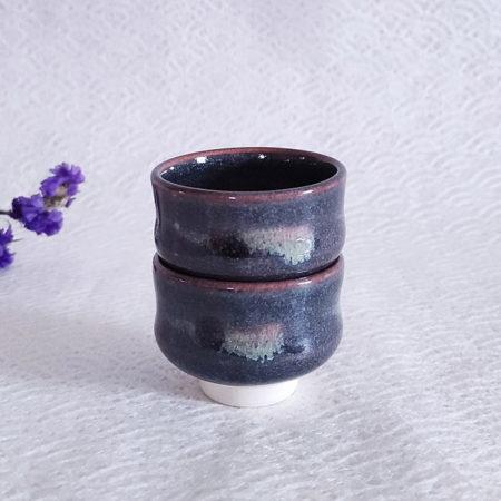Kiyomizu-ware-handmade-Sake-pair-cups-gray