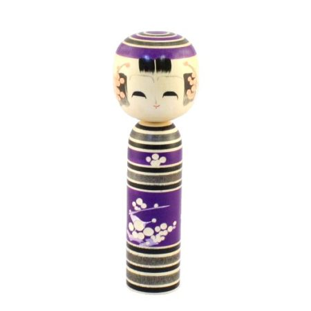 Kokeshi doll Shiraume purple 2
