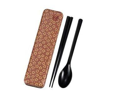 Chopsticks and spoon set with a case Sakura Blossom