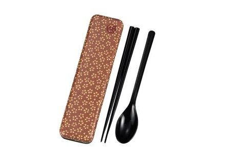 Chopsticks and spoon set with a case Sakura Blossom