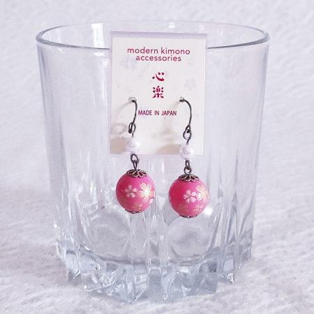 Temari-Earring-Pink-Sakura