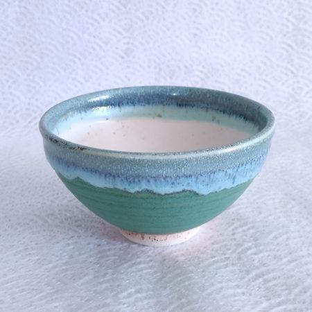 Japanese Authentic Matcha Bowl Kohiki Green Nagashi