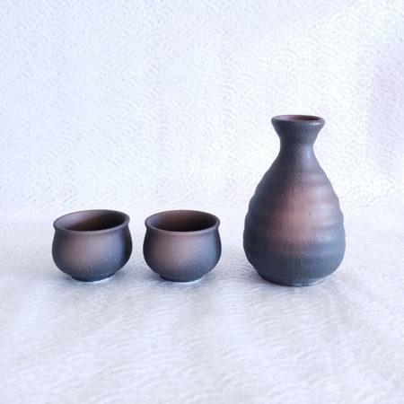 Japanese Sake set Kuro Bizen 160ml