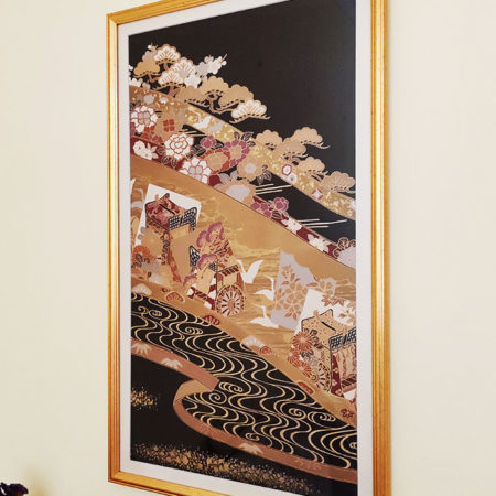 Framed-Japanese-Silk-Fabric-Gosho-Guruma