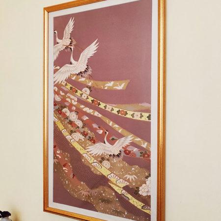 Framed-Japanese-Silk-Fabric-Iwaizuru