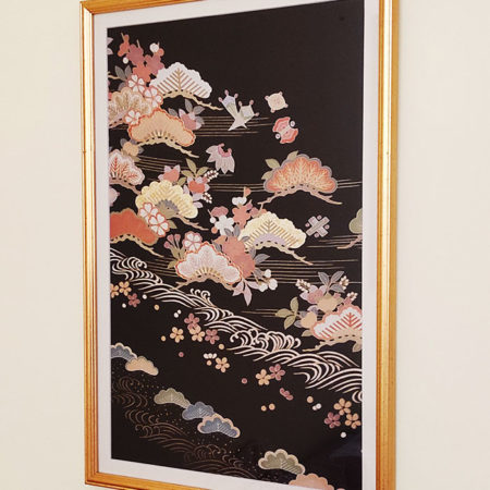 Framed-Japanese-Silk-Fabric-Matsukazari