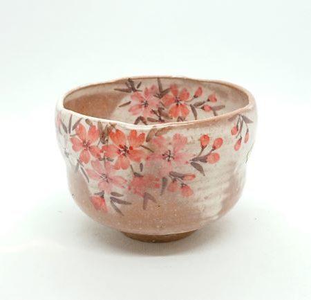 Handmade Matcha bowl Akebono Sakura