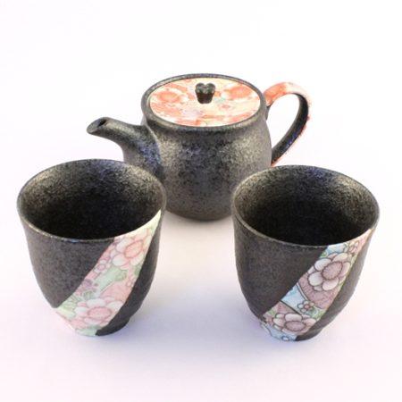 Japanese tea set Yuzen