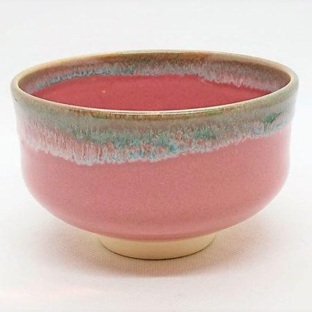 Kiyomizu-ware-Handmade-Matcha-bowl-Pink