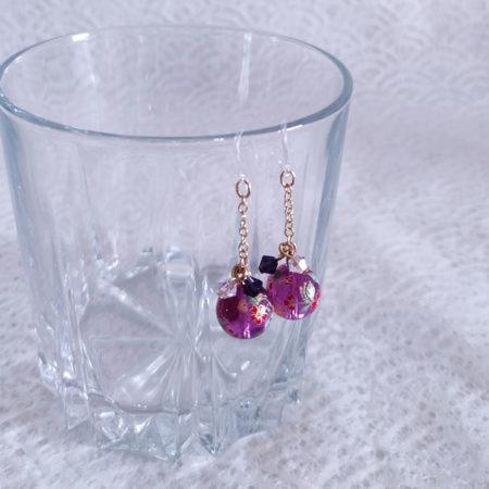 Temari-earrings-Purple-2