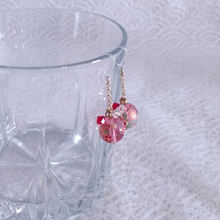 Temari-earrings-pink-2
