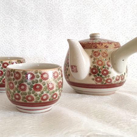 Vintage-Kutani-ware-Tea-set