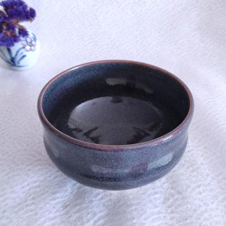 Kiyomizu-ware-Handmade-Matcha-bowl-Grey