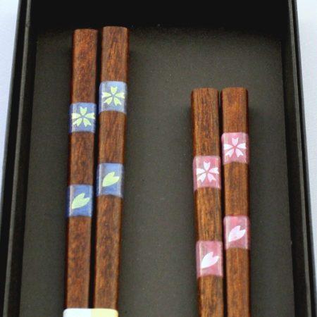 Premium chopsticks Ichimatsu Sakura 2