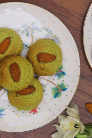 Almond Matcha biscuits250grms 4