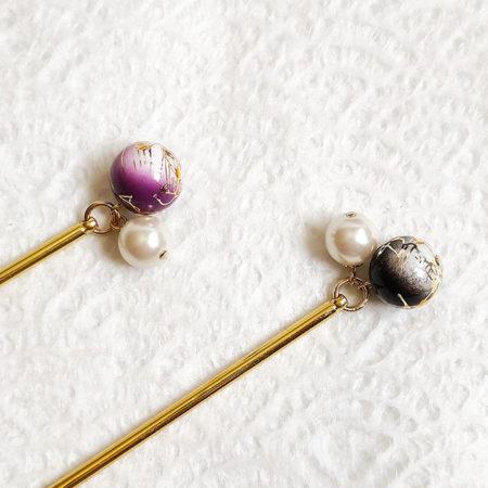 Kanzashi-hair-stick-pearl-and-Karakusa