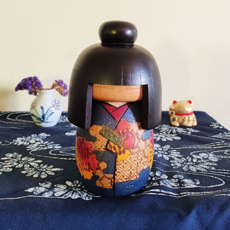 Vintage-modern-creative-Kokeshi-doll-Kazuo-Takamizawa-H16cm