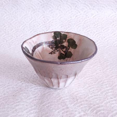 Vintage-Kiyomizu-ware-Fuji-gata-Yunomi-tea-cup-Sarubashi-1