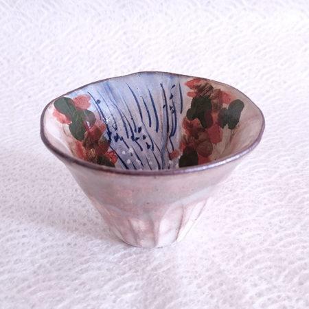 Vintage-Kiyomizu-ware-Fuji-gata-Yunomi-tea-cup-Taki-1