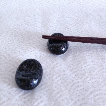 2P Japanese Chopsticks rest Ginsai Sakura